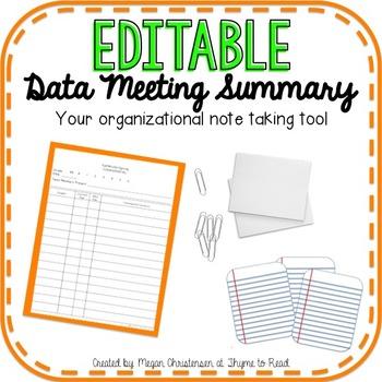 Data Meeting Notes