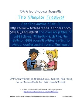 Data Notebooks/ Journaling and Reflection SAMPLER pack