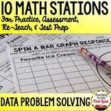 Data Problem Solving Test Prep Math Stations