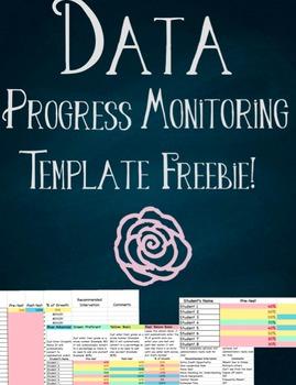 Data Progress Monitoring Template Freebie!