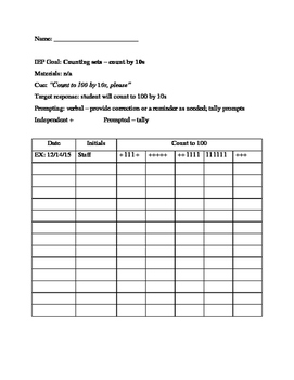 Data Sheet - Counting by 10s