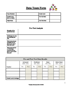 Data Team Form