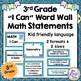 Math Student Data Tracking Bundled Set  for 3rd Grade (5 P