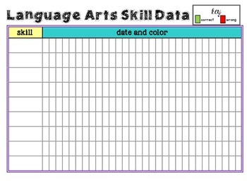 Data Tracking Sheet for Students