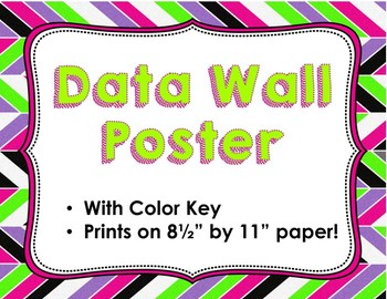 Data Wall Poster with Color Key