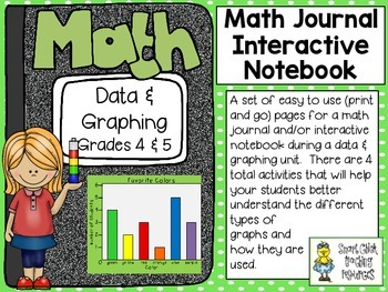 Data and Graphing (grades 4 & 5) ~ Math Interactive Notebo