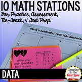 Data and Graphs Test Prep Math Stations