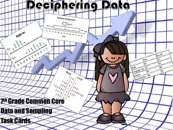 Data and Inferences Task Cards - Common Core Aligned