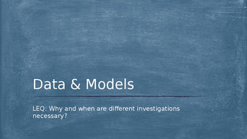 Data and Models