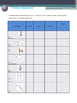Data sheets to track and assess fitness