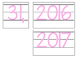Date for Board or Calendar (Light Pink)