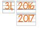 Date for Board or Calendar (Orange)