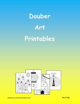 Pre-K Dauber Art Printables