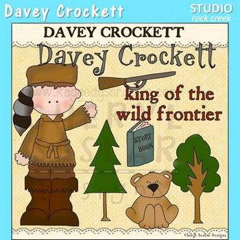 Davey Crockett US History Color Clip Art  C. Seslar