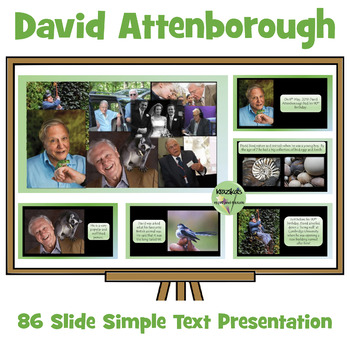 David Attenborough PowerPoint Simple Text - 8th May - 90th
