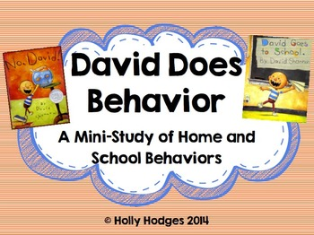 David Does Behavior {Back to School Behavior Mini Unit}