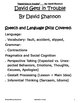 David Gets in Trouble - Expressive, Receptive and Social L