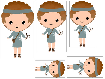 David and Goliath 4 Size Sequence preschool Christian curr