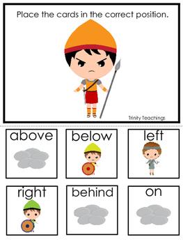 David and Goliath Positional Game preschool Christian curr