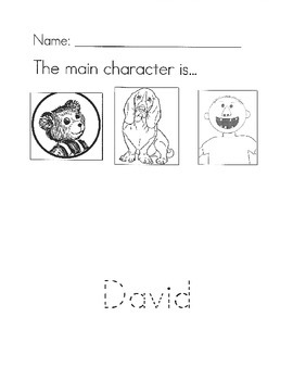 David books main character worksheet
