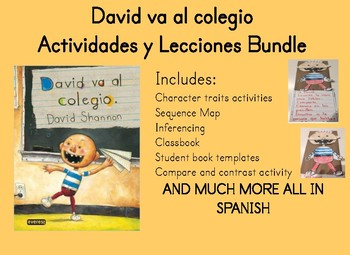 David va al colegio David goes to school Spanish Bundle