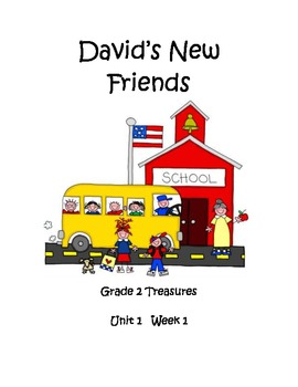David's New Friends Vocabulary Posters