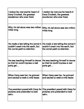 """Davy Crockett Saves the World"" Tea Party Cards 5th Grade"