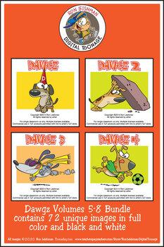 Dawgz (Dogs) 1-4 Cartoon Clipart BUNDLE