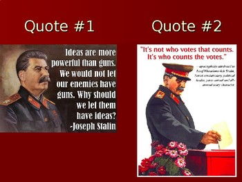 Joseph Stalin and the Soviet Union - PowerPoint