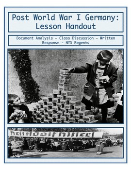Post World War I Germany: Weimer Republic - Lesson Handout