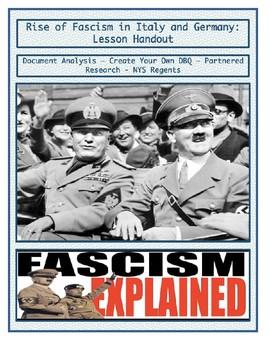 Rise of Fascism & Create Your Own DBQ - Lesson Handout
