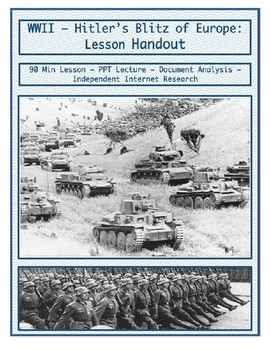 Day 105_Hitler's Blitz of Europe - Lesson Handout