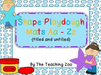 Day 4 FREEBIE- Shape Playdough Mats