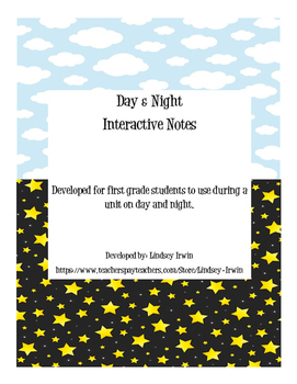 Day/Night and Winter Interactive Notes
