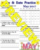 Day and Date Calendar Practice September 2016 - May 2017