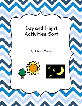 Day and Night File Folder Activity for Special Education