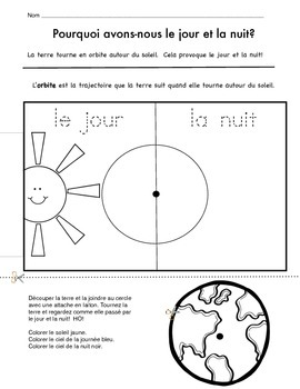 Day and Night project in French (le jour et la nuit)