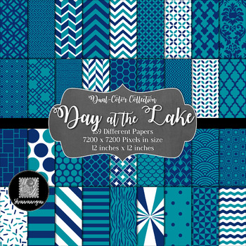 Day at the Lake Digital Paper Collection 12x12 600dpi