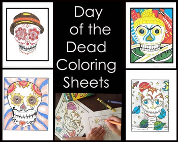 Day of the Dead Skull Coloring Sheets