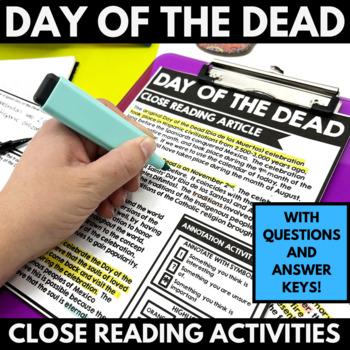Day of the Dead - El Dia de los Muertos - Close Reading Re