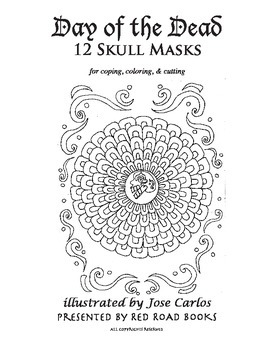 Day of the Dead Coloring Book Printable Dia de los Muertos