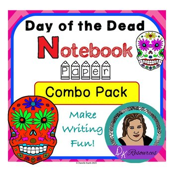 Day of the Dead Notebook Paper Combo Pack Guide Lines and