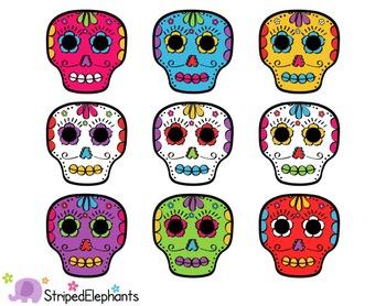 Day of the Dead Skulls Clip Art