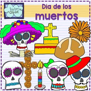 Day of the dead - Dia de los muertos clip art {Social Stud