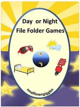 Day or Night? Math & Literacy File Folder Games Autism Spe