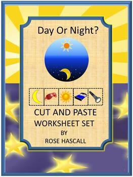Day and Night Math & Literacy Activities Cut and Paste Wor