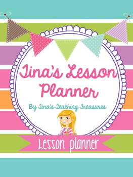Daybook Teacher Binder Preppy Style by Tina's Teaching Tre