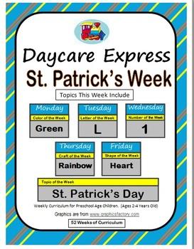 Daycare Curriculum (St. Patrick's) Letter L, Shape Heart,