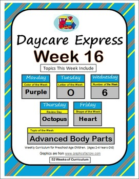 Daycare Curriculum (Week 16) Letter O, Shape Heart, Color