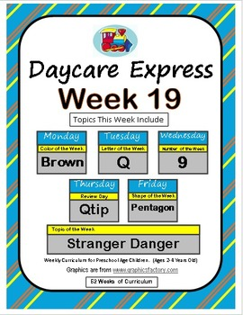 Daycare Curriculum (Week 19) Letter Q, Shape Pentagon, Col